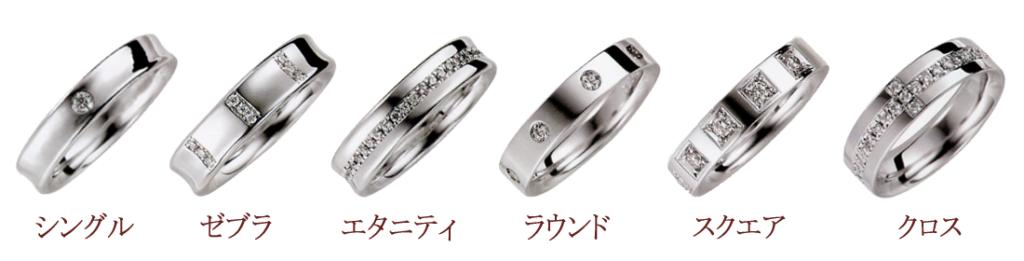 結婚指輪のダイヤモンドのアレンジ例