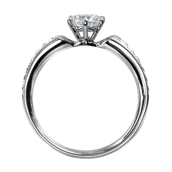 婚約指輪・ソリティア・爪あり