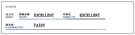 鑑定書のポリッシュ(研磨状態)」「シンメトリー(対称性)について