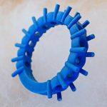 当社にて設計して出来上がった爪留めハーフエタニティリングのワックス原型