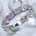 東京都 S 様からのご注文:Pt900ハーフエタニティリング 爪留め 3EX・H&Cのダイヤモンド