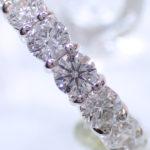 ダイヤモンドを上から見た写真