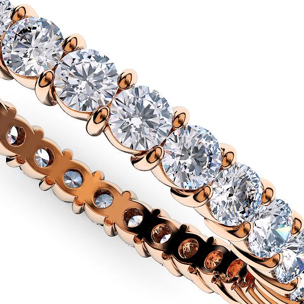 ピンクゴールドのダイヤモンド フルエタニティリング1.00Ct[直径1.8mm x 40Pc] 16~19号 (HC