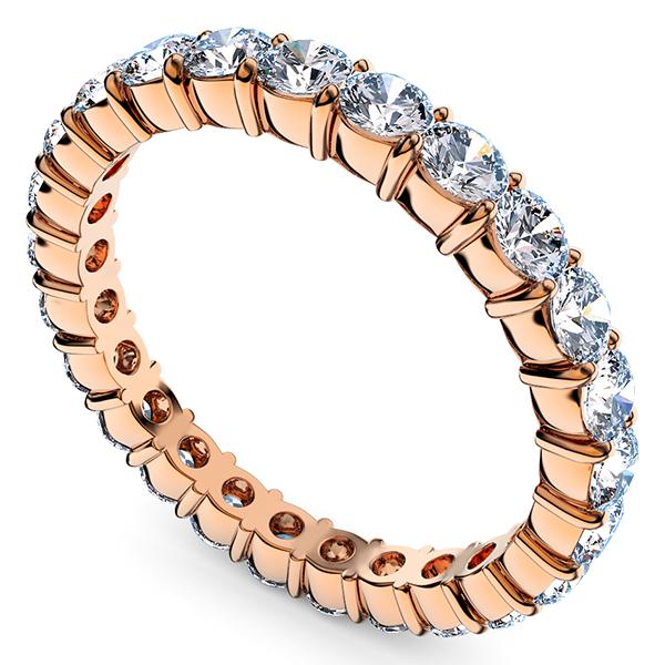 ピンクゴールドのダイヤモンド フルエタニティリング1.00Ct[直径2.0mm x 40Pc] 4~7号 (HC