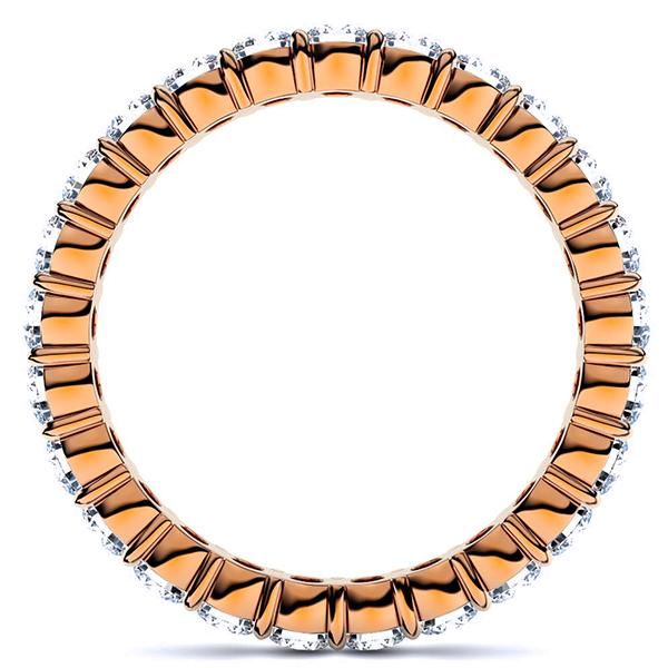 ピンクゴールドのダイヤモンド フルエタニティリング1.00Ct[直径2.0mm x 40Pc] 7~10号 (HC