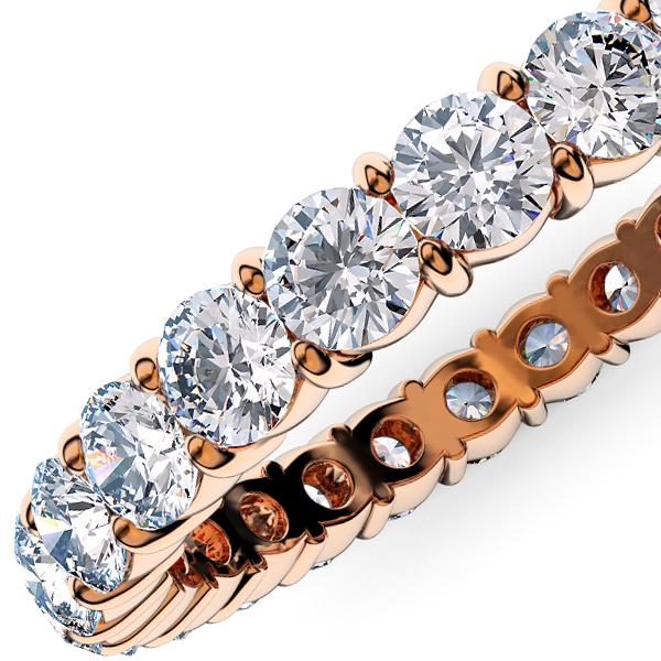 ピンクゴールドのダイヤモンド フルエタニティリング1.00Ct[直径2.0mm x 40Pc] 10~13号 (HC