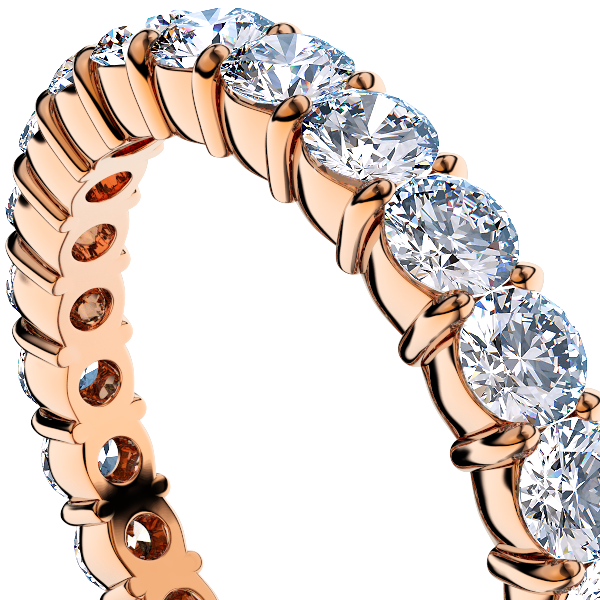 ピンクゴールドのダイヤモンド フルエタニティリング1.00Ct[直径2.0mm x 40Pc] 13.~16号 (HC