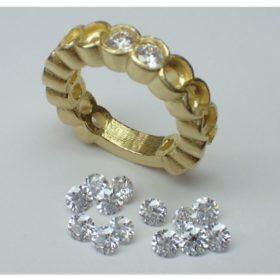 エタニティリングのリング金具とメレダイヤ