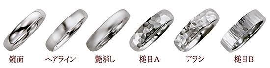 指輪の表面加工