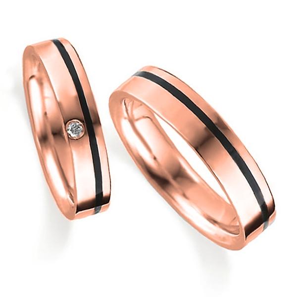 ピンクゴールドの指輪