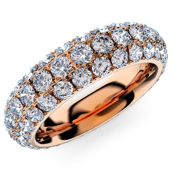 ピンクゴールドのパヴェエタニティリング・ダイヤモンド3.8ミリ