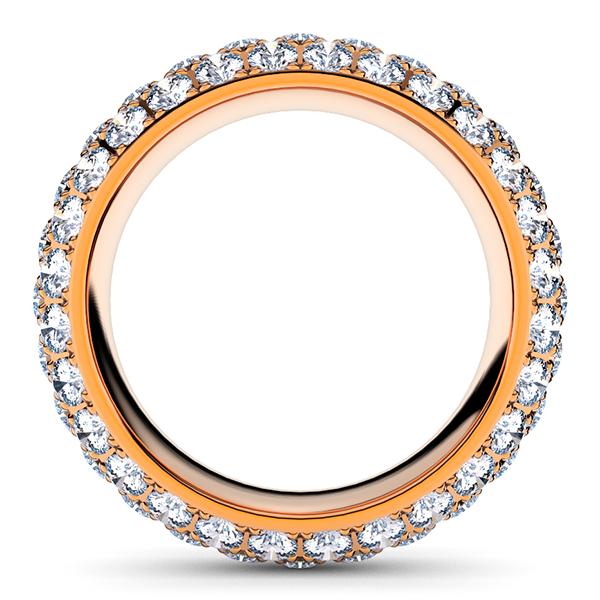 ピンクゴールドのパヴェエタニティリング ダイヤモンド3.8ミリ