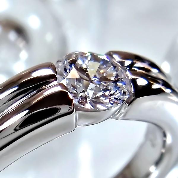 ソリティア 爪無しタイプの婚約指輪