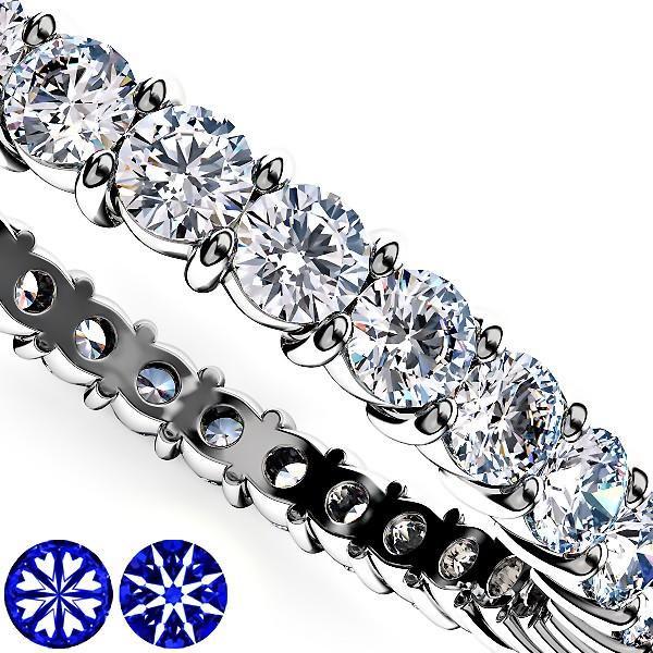 細いプラチナ・ダイヤモンドフルエタニティリング2mm