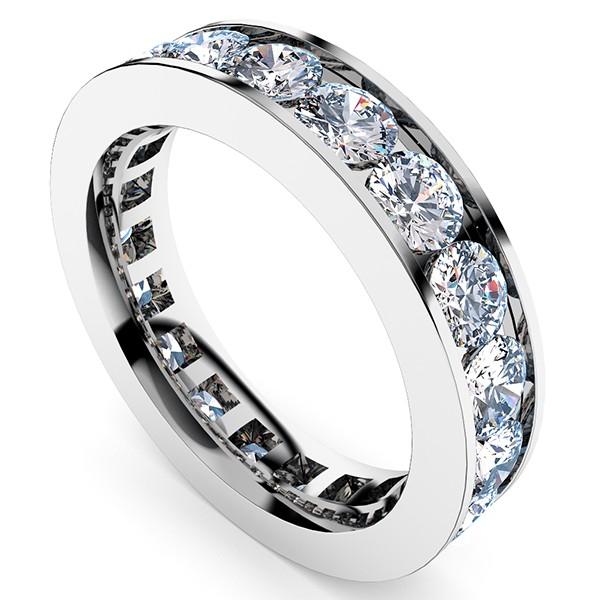 3カラットダイヤモンド フルエタニティリング・全体像少し右上