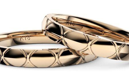 シンプルでオシャレなペア結婚指輪・ピンクゴールド「トルテュ・ド・メール」