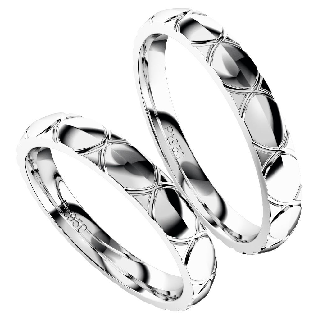 シンプルでカッコいい結婚指輪・プラチナのペアリング「トルテュ・ド・メール」