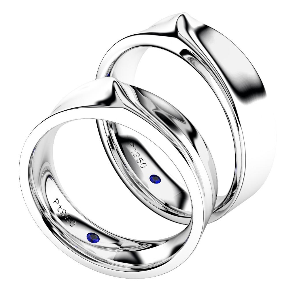 シンプルな結婚指輪(マリッジリング)さざなみ・プラチナ950