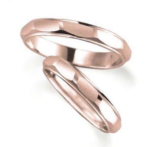石なしピンクゴールドのペア結婚指輪