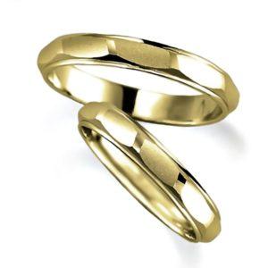 イエローゴールドのペア結婚指輪
