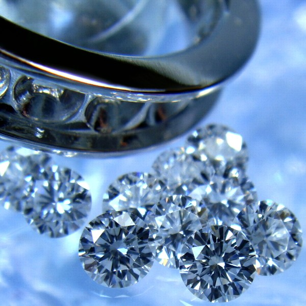 ラウンドブリリアントカットのダイヤモンドルース