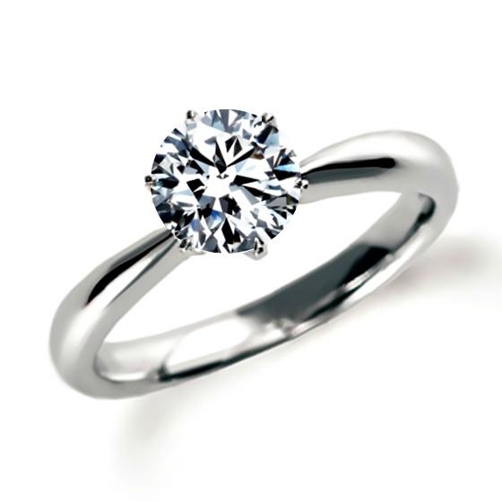 ソリティアの婚約指輪(エンゲージリング)石座の高いタイプ