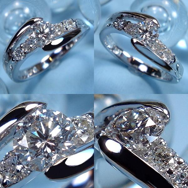 爪なしソリティアタイプ・婚約指輪(エンゲージリング)