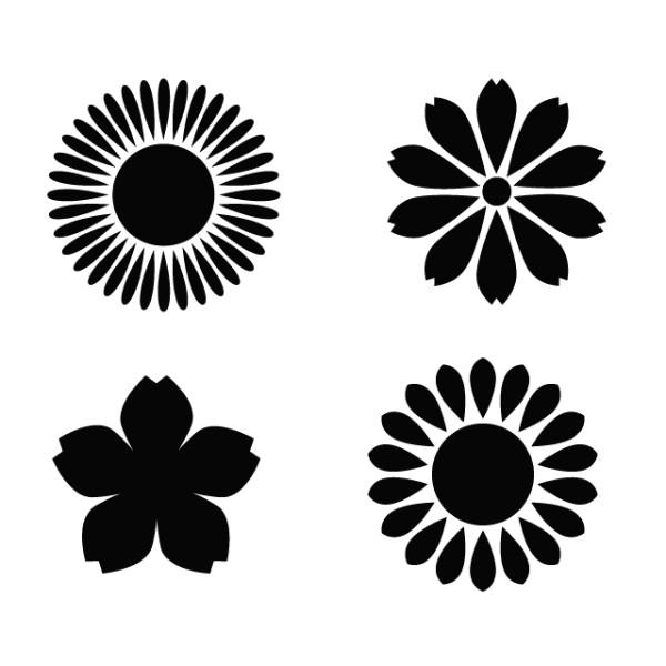 花柄の組合せ・彫り