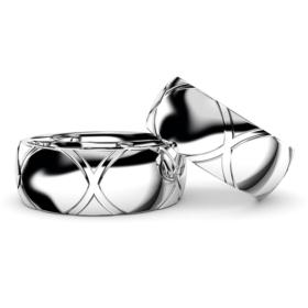 太めの(8mm幅)男性用結婚指輪・トルテュ・ド・メール・プラチナ950